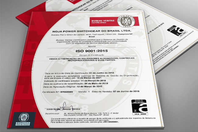 NOJA Power Brazil Achieves ISO 9001 Re-certification to 2015 Edition Standard