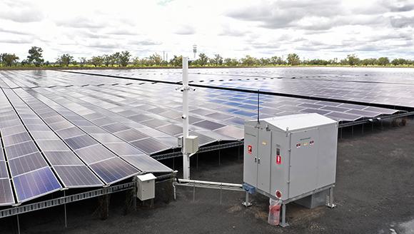 NOJA Power 2021, A NOJA Power GMK connecting Kanowna Solar Farm to the distribution grid, near Moree NSW Australia