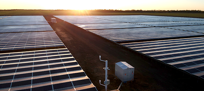 Kanowna Solar Farm in Northern NSW, Australia with a NOJA Power GMK