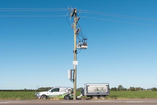 NOJA Power VISI-SWITCH® Trailer and OSM Recloser Installation near Home Hill, Queensland, Australia