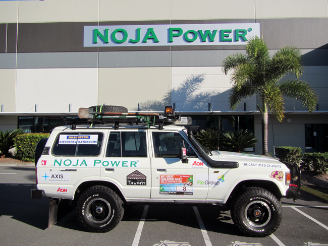 "4wd rally entry ""The Cane Toad Cruisers"", supported by NOJA Power®"