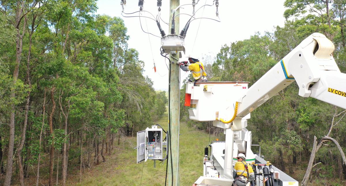NOJA Power RC20 under installation