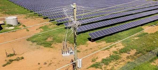 NOJA Power OSM Reclosers Solar Farm Installation