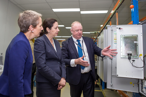 Queensland Premier Annastacia Palaszczuk  touring through the NOJA Power Factory