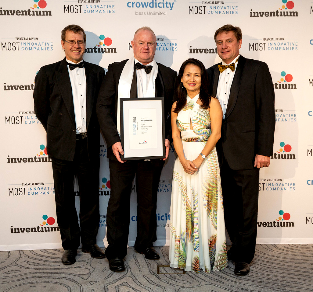Jay Manne (Group Engineering Director of NOJA Power),  Neil O'Sullivan (Group Managing Director of NOJA Power), Quynh Anh Le (Group Financial Director of NOJA Power), Oleg Samarski (Group Quality & Service Director of NOJA Power) (l-to-r)