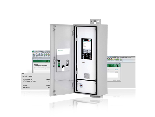 NOJA Power RC10 control and communication cubicle with CMS DNP3 configurations screens