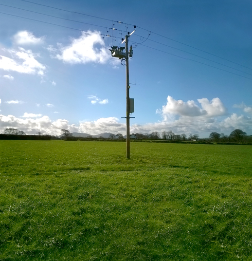 OSM Recloser with RC10 Recloser Controller system installation in the United Kingdom