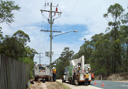 Energex installation crew on site