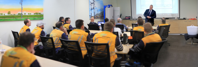 NOJA Power Group Managing Director Neil O'Sullivan welcomes delegates to the new training facility