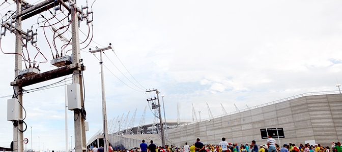 NOJA Power's automatic circuit reclosers at Brazil's Castelão Stadium, host of the Brazil vs Mexico and Germany vs Ghana in the FIFA World Cup tournament