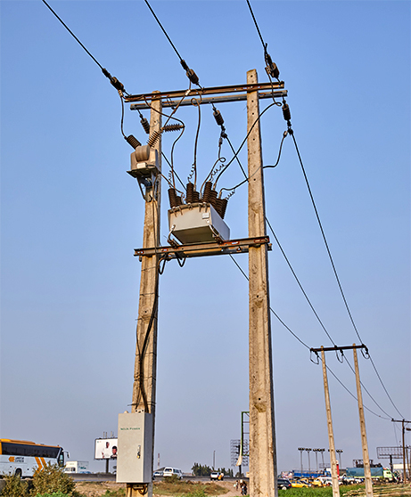 Ikeja Electric NOJA Power OSM Recloser installation, using a H-Pole arrangement