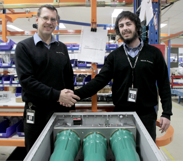 Jay Manne ( Engineering Director of NOJA Power) and Norton Kelly-Boxall (Engineering Cadet of NOJA Power) (l-to-r)
