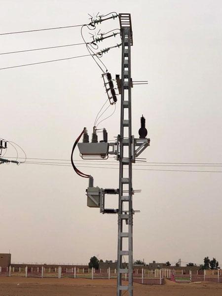 NOJA Power OSM Recloser installed as a capacitor switch in the Saharan Desert, Algeria
