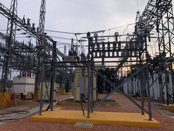 NOJA Power OSM Recloser installed in a substation capacitor switching application, Mexico