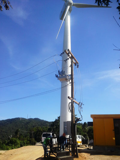 NOJA Power OSM Recloser Point of Connection for a Philippine Wind Farm