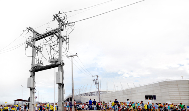 NOJA Power's OSM auto reclosers used to protect Castelão Stadium's electricity distribution feeders
