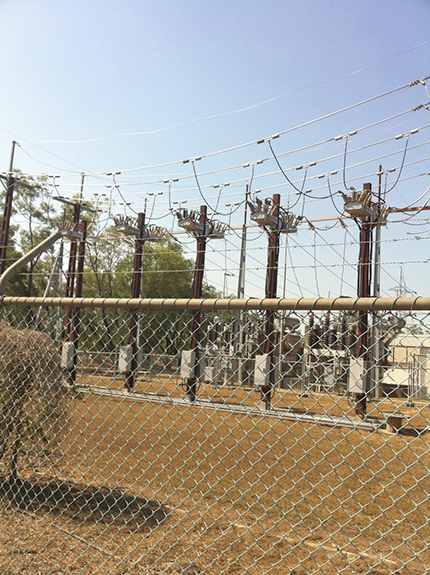 "Figure 2 – The ""NOJA Power Farm"" – Substation array in NT Australia"