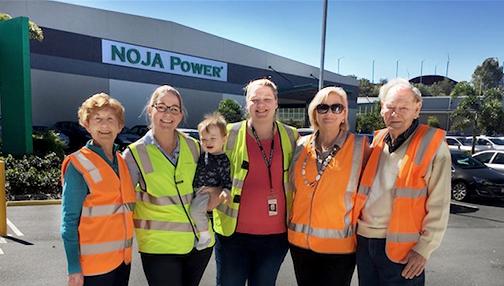 The Norgrove Family (left to right): Lorraine Hughes, Peta Norgrove, Jake Ramsey, Elizabeth Norgrove, Margaret Norgrove and Reginald Hughes
