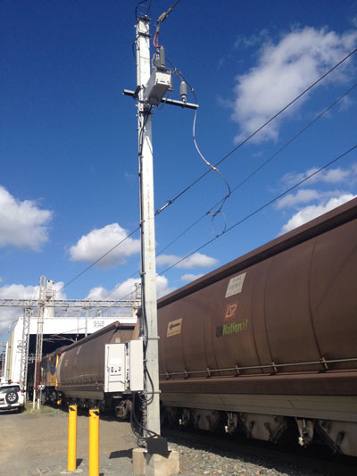 NOJA Power 38kV Single Phase Recloser Installation at the Callemondah, Queensland Shunting Yard