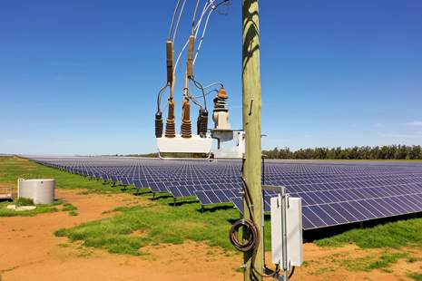 A NOJA Power OSM Recloser connecting Renewable Generation Energy to the Distribution Grid
