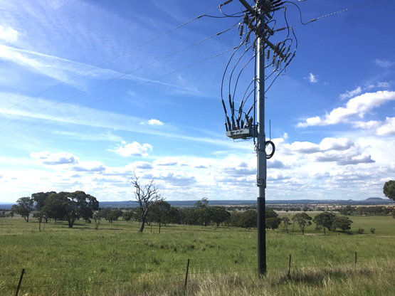 NOJA Power Recloser Installation in Rural New South Wales, Australia