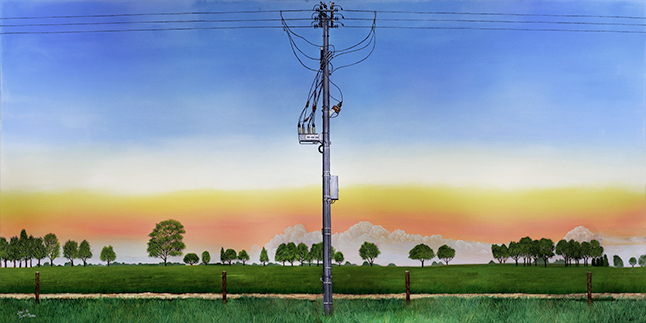 NOJA Power OSM series three-phase ACR installation in Albury Wodonga, Australia painted by John H. Lynch