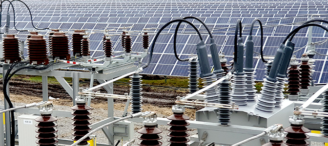 NOJA Power OSM Reclosers used to connect a 17 MW Solar Farm to the Medium Voltage Distribution Grid