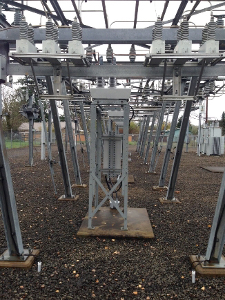 Figure 1 – NOJA Power OSM Recloser Substation Mounting Arrangement, Eugene Oregon USA