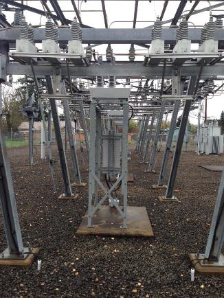 Figure 1 – NOJA Power OSM Recloser Substation Mounting Arrangement, Eugene Oregon USA