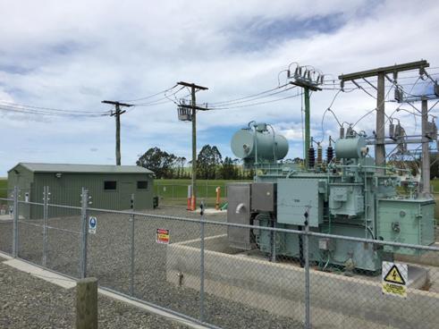 NOJA Power Recloser Installed in Network Waitaki Duntroon Substation (rear of substation)