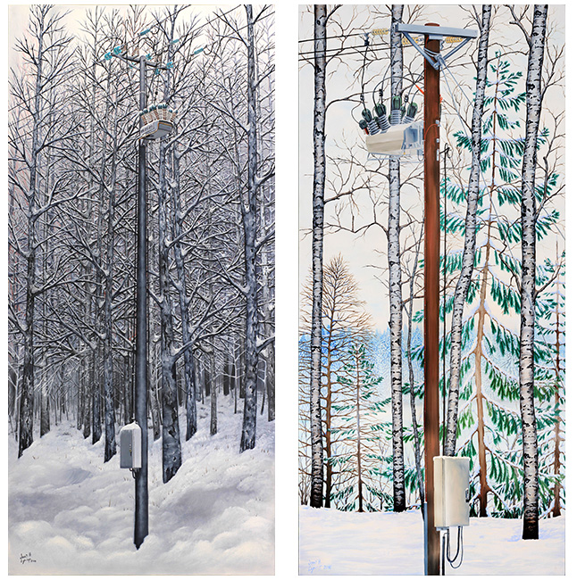 NOJA Power ACR installation in Finland painted by John H. Lynch (l) andNOJA Power ACR installation in Sweden painted by John H. Lynch (r)